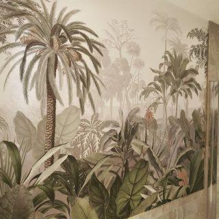 The 'outside' inside - 'Jungle paradise' #GrahamandBrown GrahamandBrown #wallpaper